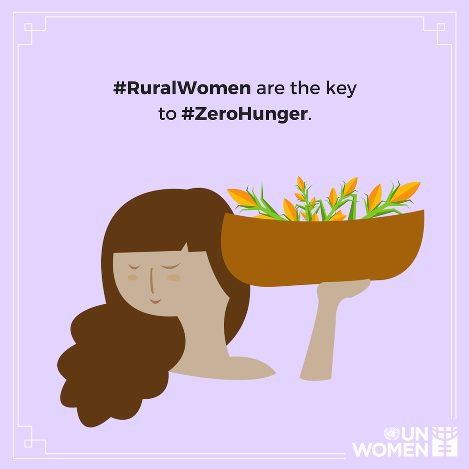 43% of women in the global agricultural labour force